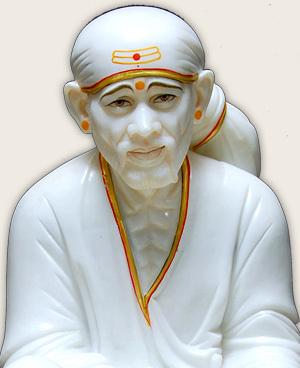 Sai Baba Marble White idol