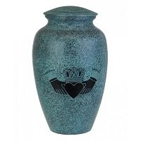 Large Celtic Turquoise Claddagh Urn