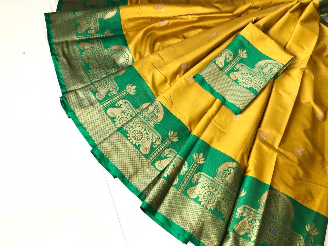 Ethnic Pure Cotton Silk Saree