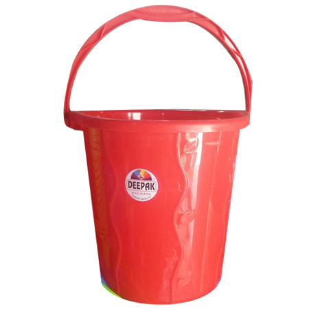 Plain Red Plastic Bucket