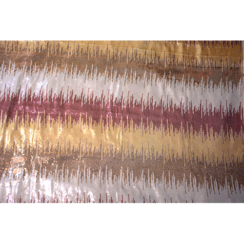 3mm Polyester Georgette Sequence Work Fabric