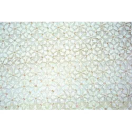 Cotton Thread Work Net Fabric