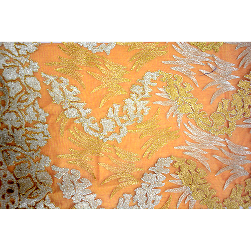 Zari Work Net Fabric