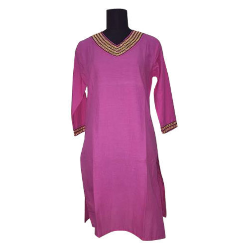 Plain Casual Wear Ladies Kurti