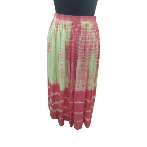 Dye Printed Ladies Skirt