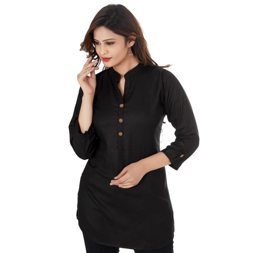 Ladies Black Short Kurti