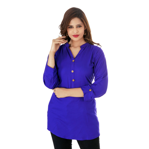 Ladies Blue Short Kurti