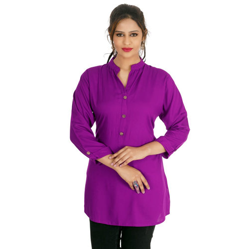 Ladies Purple Short Kurti