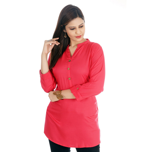 Ladies Red Short Kurti
