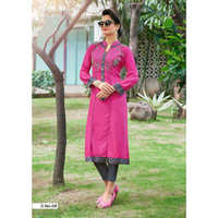 Ladies Embroidered Long Kurti