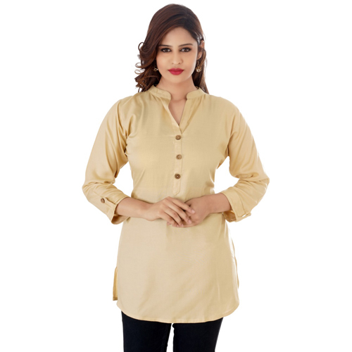 Ladies Beige Short Kurti
