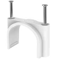 Press Fit PVC Double Nail Cable Clips