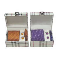 Mens Designer Tie With Cufflink Set