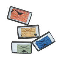 Mens Printed Bow Tie With Pocket Square