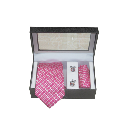 Mens Party Wear Tie With Cufflink Set