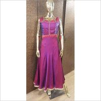 Ladies Silk Desginer Gown