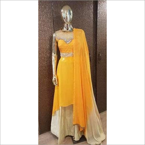 Ladies Georgette Pearl Gown