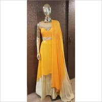 Ladies Georgette Pearl Gown