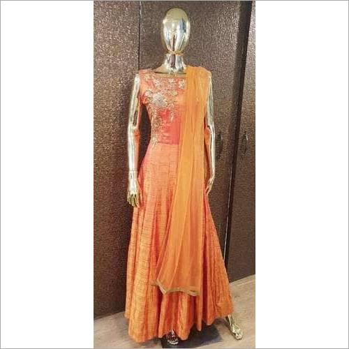 Ladies Zari Zardozi Gown