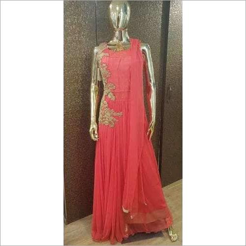 Ladies Net Ethnic Gown