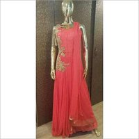 Ladies Net Ethnic Gown