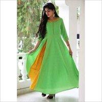 Ladies Rayon Gown Kurti