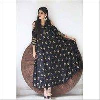 Ladies Rayon Printed Gown Kurta