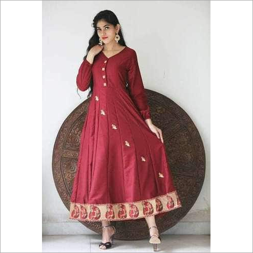 Ladies Full Sleeves Anarkali Kurtis