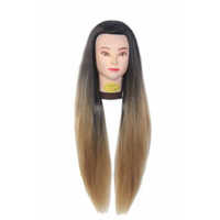 31 inch Synthetic Brown Hair Dummy Head