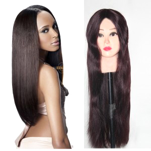 Full Lace Indian Human Silky Hair Wig