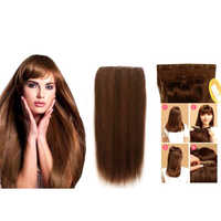 6 Clip 18 Inch Medium Brown Human Hair Extension