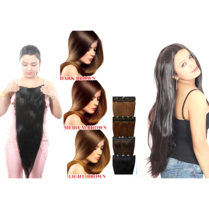 16 to 32 Inch Natural Black Remi Hair Extension