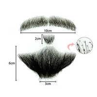 Mens Human Hair Mustache