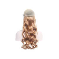 100% High Quality Soft Touch Curly Synthetic Golden hair Extension