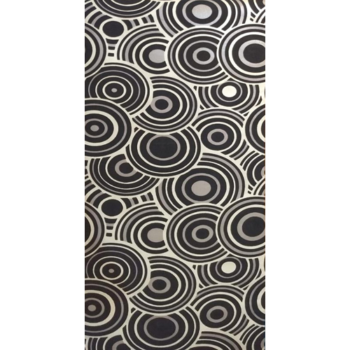 Decorative Printed Circles Wallpaper
