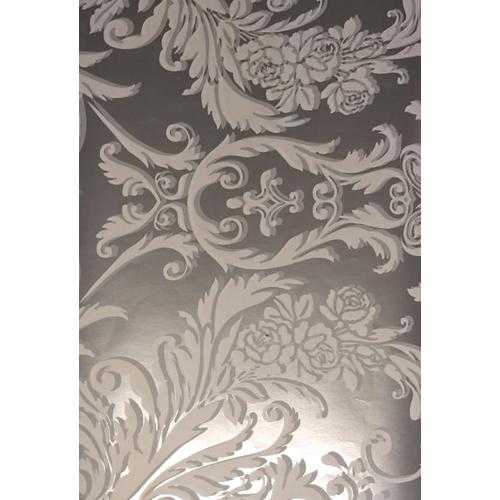 Decorative Golden Arabesque Wallpaper