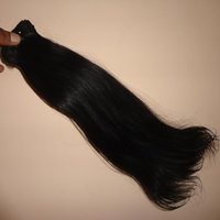 Natural Indian Temple Straight Human Hair