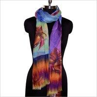 Digital floral print scarf