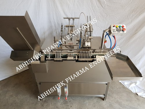 Automatic four head ampoule filling sealing machine