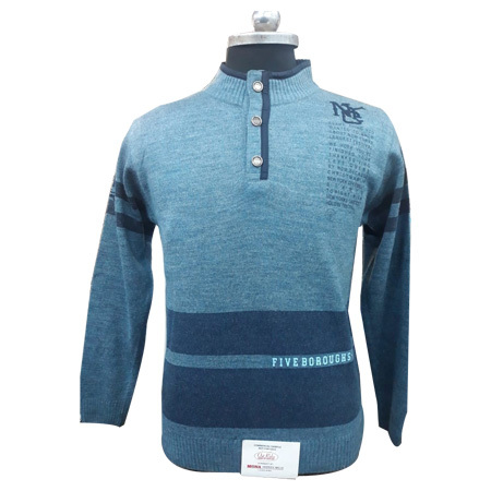 Men's Three Button Pullover