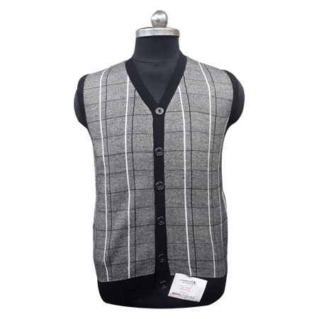 Men's Fine Knitted Sleeveless Sweater