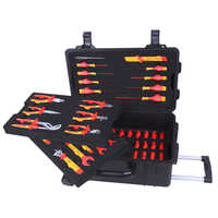VDE 1000V Insulated 52 pc Insulated Tools Set With Waterproof Case