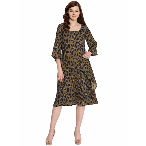 Ladies Leopard Print Dress