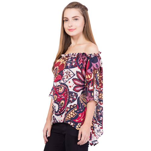Off Shoulder Printed Top