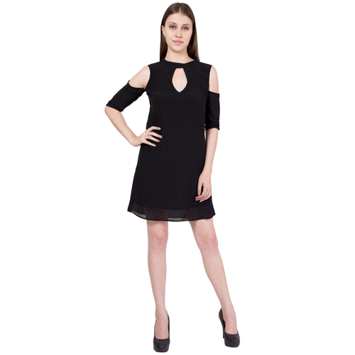 Ladies Cold Shoulder One Piece Dress