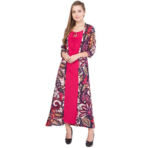 Western Pink Georgette Dress