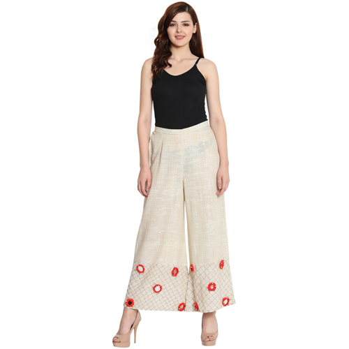Women's Cotton Khadi Palazzos