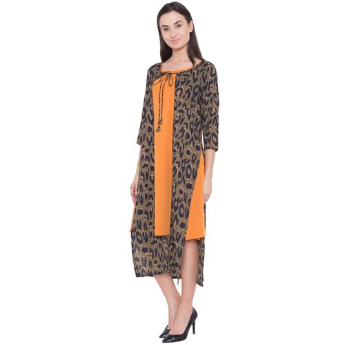 Ladies Side Slit Cape Dress