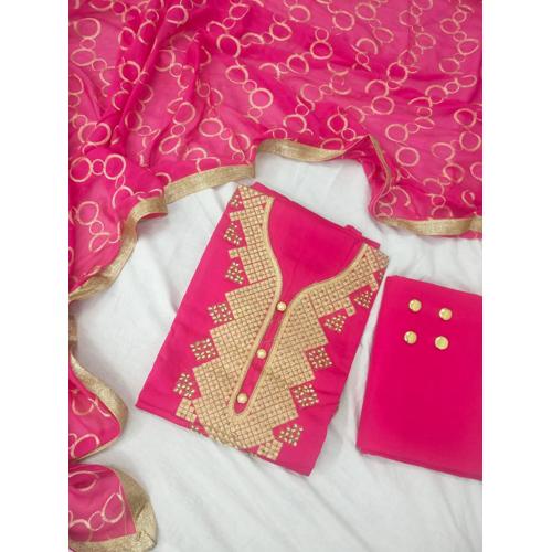 Ladies Pink Cotton Suit