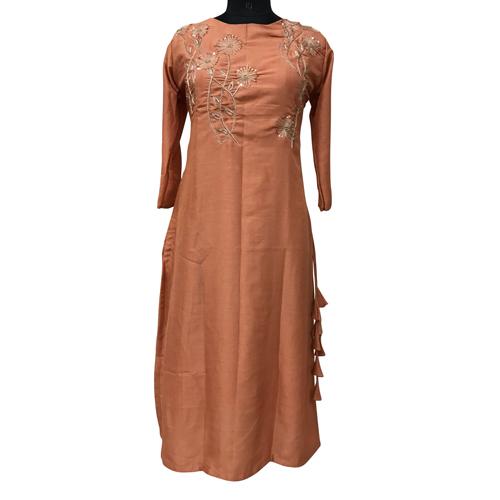 Ladies Dola Silk Embroidered Suit